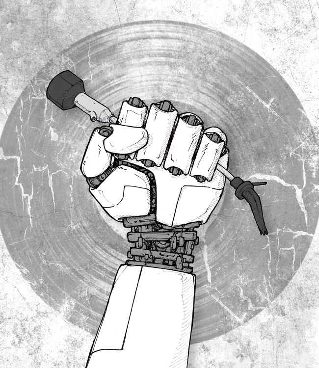 Cyborg-hand - cyber, hands, music - 3zeta | ello