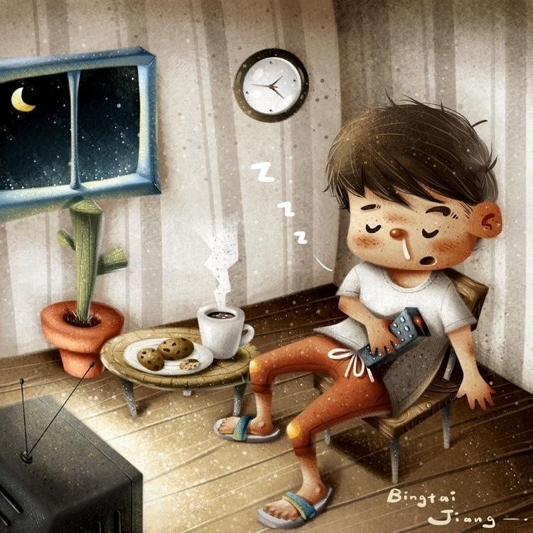 2:24 - illustration, painting, nigth - bingtai | ello
