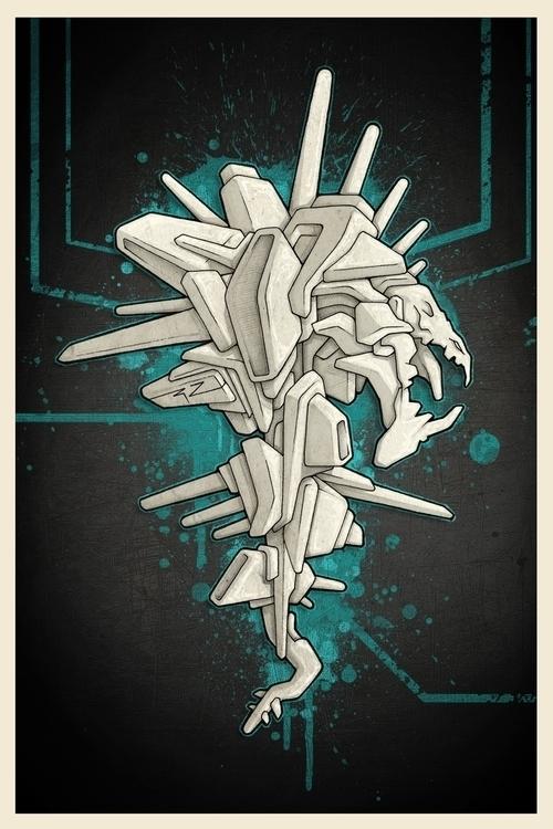 Cyber-snake - machine, cyber, drawing - 3zeta | ello
