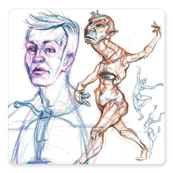 Doodling sketchbook - davidkelmer - dkelmer | ello