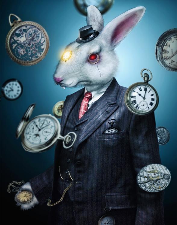 time - rabbit, clocks, aliceinwonderland - tarekhakeem | ello