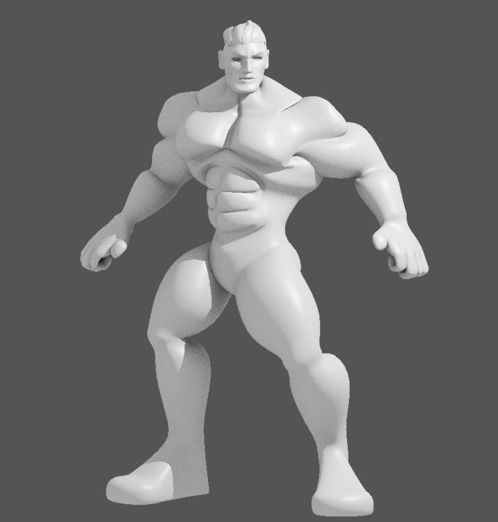 Muscle Guy - 3d, characterdesign - alimayoarango | ello
