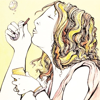 Bubbles. Inspired Steph - illustration - cloverclo | ello
