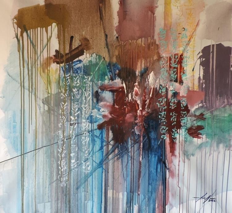 Neoténia Acrylic Canvas 100x100 - joaonepomuceno | ello