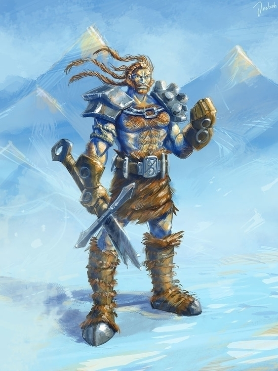 Frozenland chieftain - characterdesign - jeebah | ello