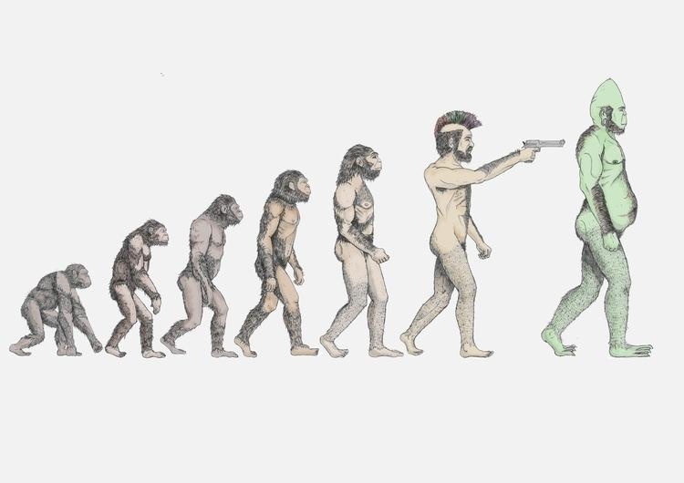 Evolution - illustration - thecreativefish | ello