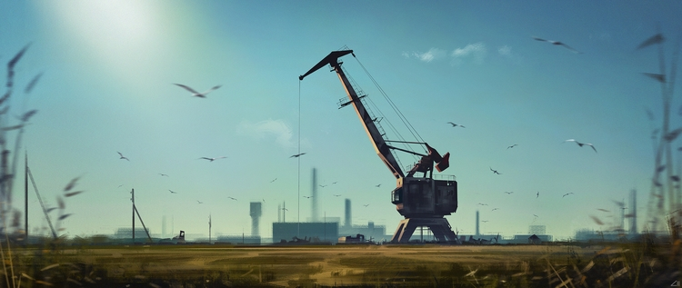 Crane - painting, illustration, conceptart - ziiart | ello