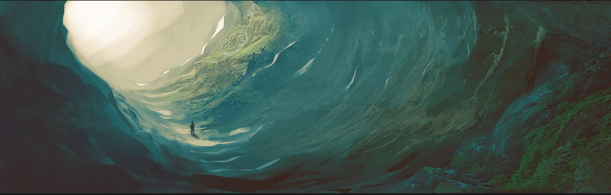 Cave landscape practice - illustration - bassim | ello