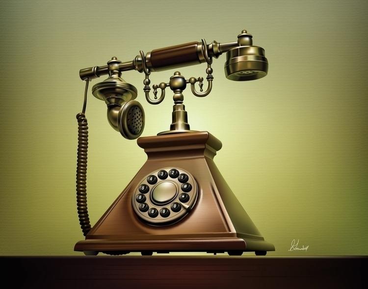 Title: Antique Telephone Adobe  - g_marshallarts | ello