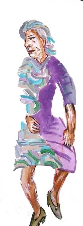 figures, acrylic paper - Purple - frankcreber   ello