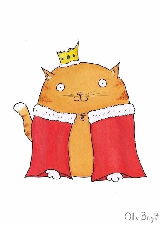 King Mittens IV - king, cat, royal - olliebright | ello