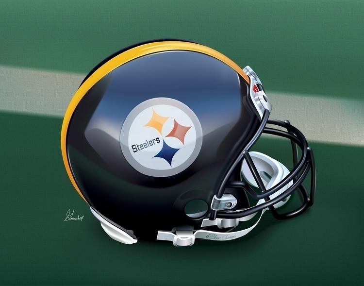 Title: Steelers Helmet Adobe Il - g_marshallarts | ello