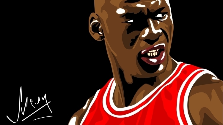 Michael Jordan vector illustrat - mark_melnik | ello