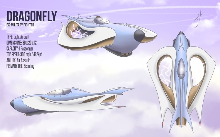 Dragonfly - illustration, vehicledesign - fxscreamer | ello
