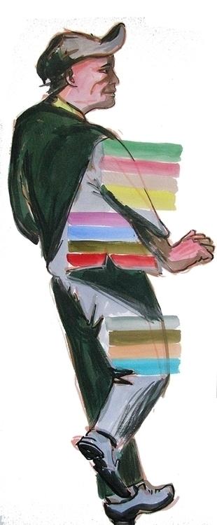 figures, acrylic paper - Televi - frankcreber | ello