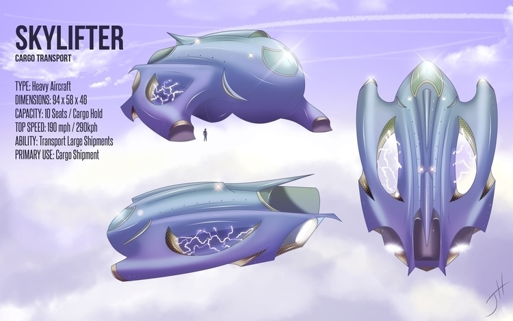 Skylifter - conceptart, vehicledesign - fxscreamer | ello