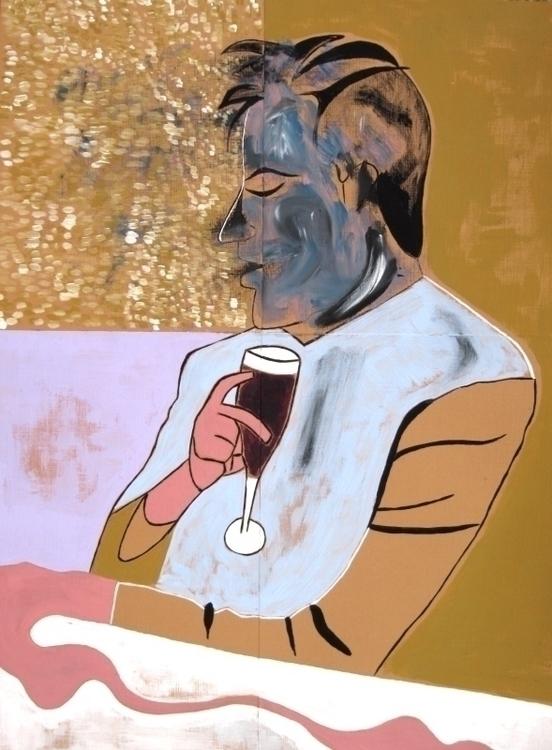 Francis - painting, lukegilliampaintings - lukegilliam | ello