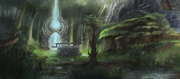 illustration, environment, forest - anna_warzecha | ello