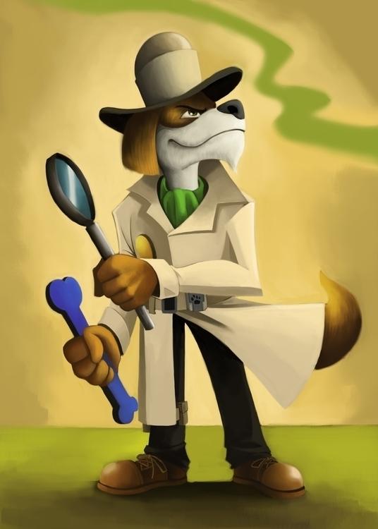 Detective Wallace - characterdesign - andyanime90 | ello