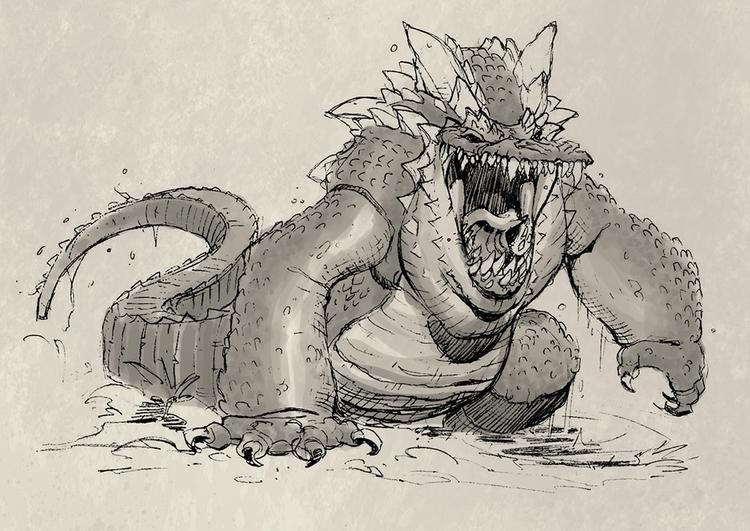 Swamp Monster - gameart, gamedev - tommcweeney | ello