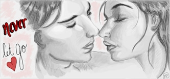 Kiss - illustration, drawing, design - jessicaredmond | ello