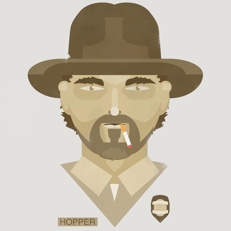 Hopper / Stranger - strangerthings - jstoutillustration | ello