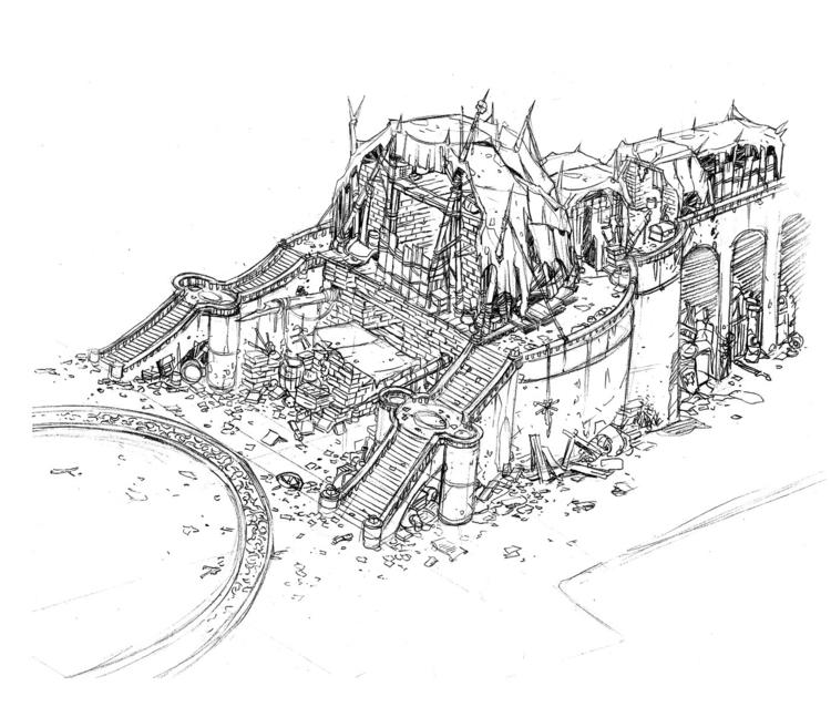 Goblin Library 1 - environment, scenery - tommcweeney | ello