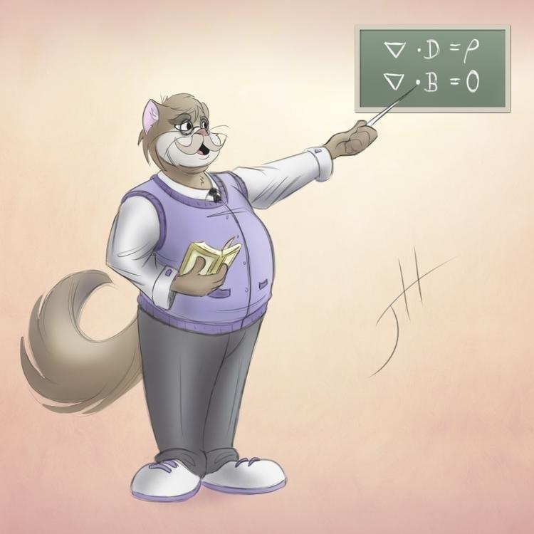Professor Watts - illustration, cartoon - fxscreamer | ello