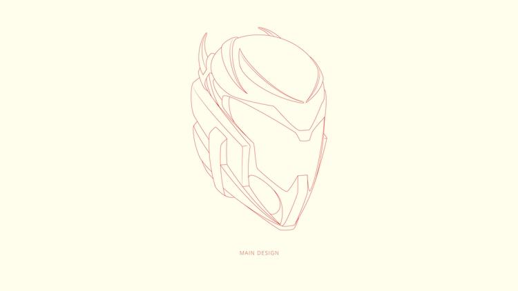 Helmet concept - illustration, characterdesign - babyeyez | ello