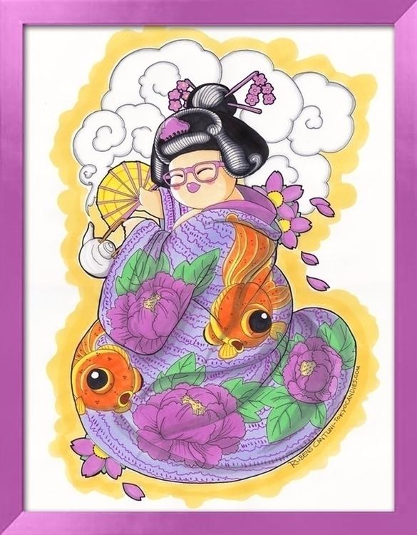 chubby, girl, kimono, fishes - tokyocandies-1186   ello