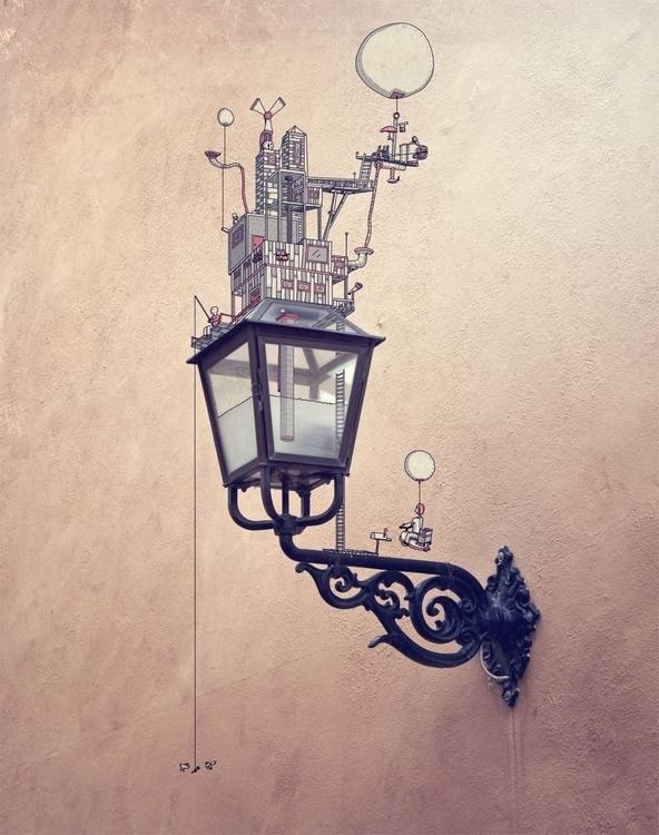 Lampa - illustration, drawing - snarlik   ello