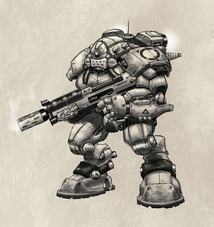 Mecha Soldier - gameart, gamedev - tommcweeney | ello