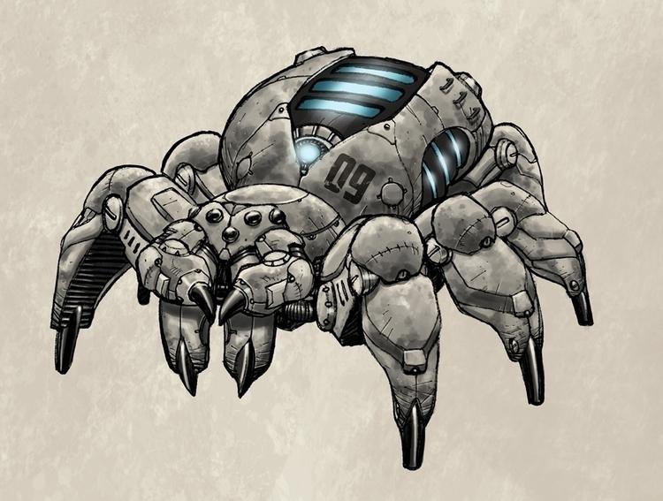 Mecha Spider 2 - gameart, gamedev - tommcweeney | ello