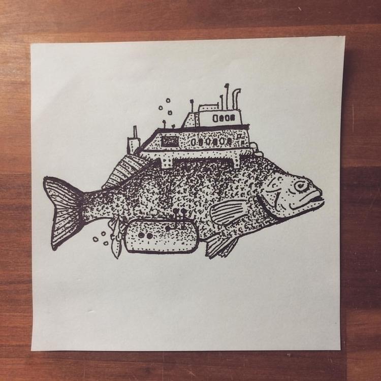 Fish - illustration, drawing - snarlik | ello