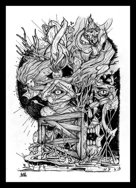 Hope Fear - illustration, conceptart - blast-1381   ello