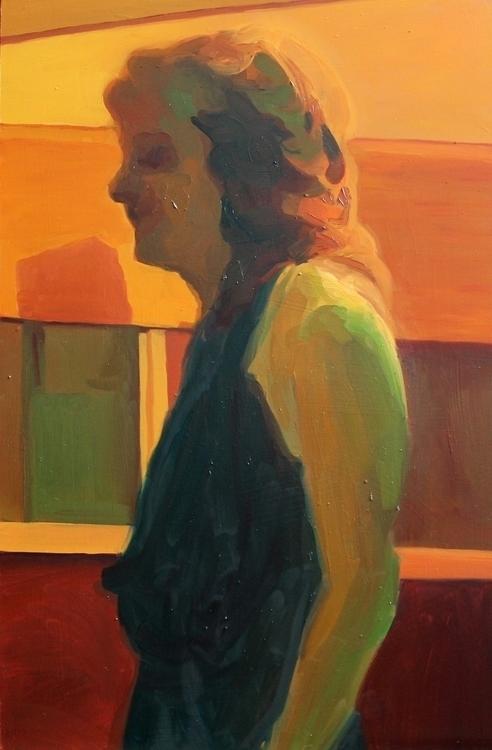 oil lino, 55 85 cm, 2014 - painting - suzanadzelatovic | ello