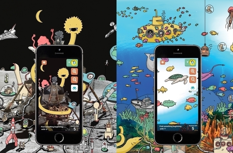 Illustrations mobile-game Sains - snarlik | ello