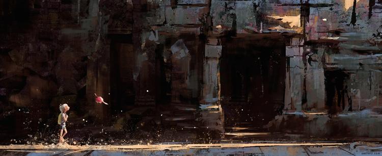Concept painting posting brushe - zacretz | ello