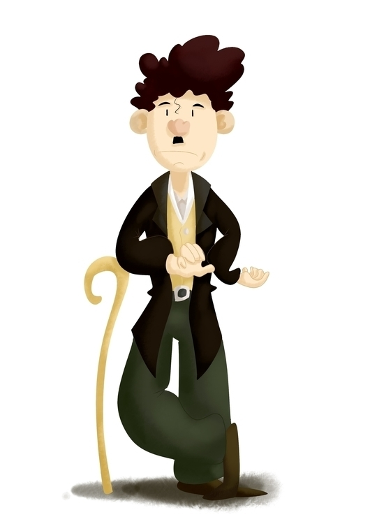 Sir Charlie Chaplin - illustration - hlmnfrz | ello
