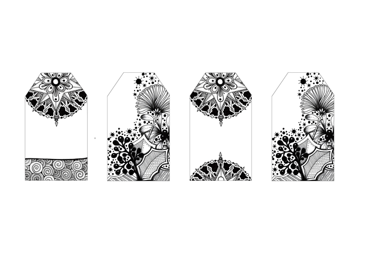 Gift Tags - illustration, drawing - ellenparzer | ello