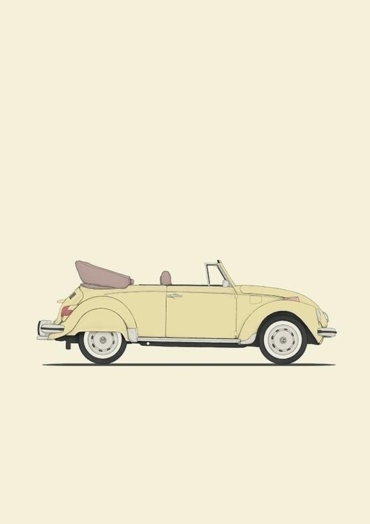 poster VW beetle - bug, vw, volkswagen - poposter | ello
