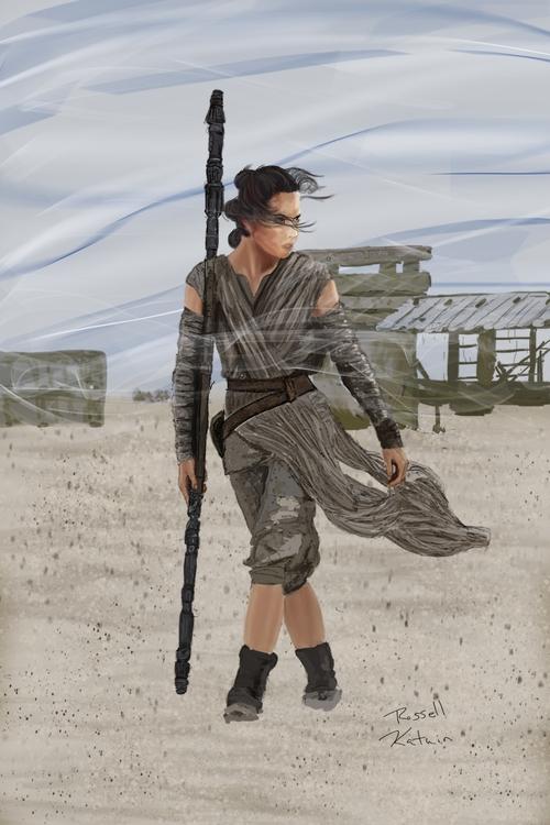Wind - illustration - russellkatuin | ello