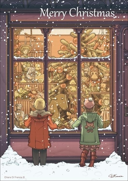 Merry Christmas - illustration, children'sillustration - chiaradifrancia | ello