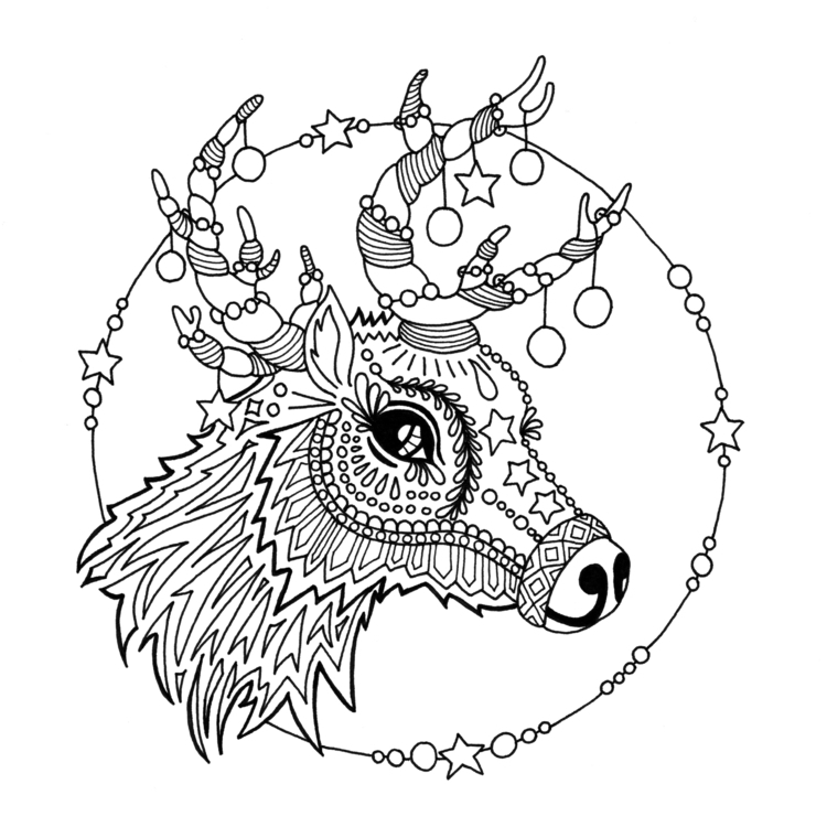 Reindeer - illustration, drawing - ellenparzer | ello