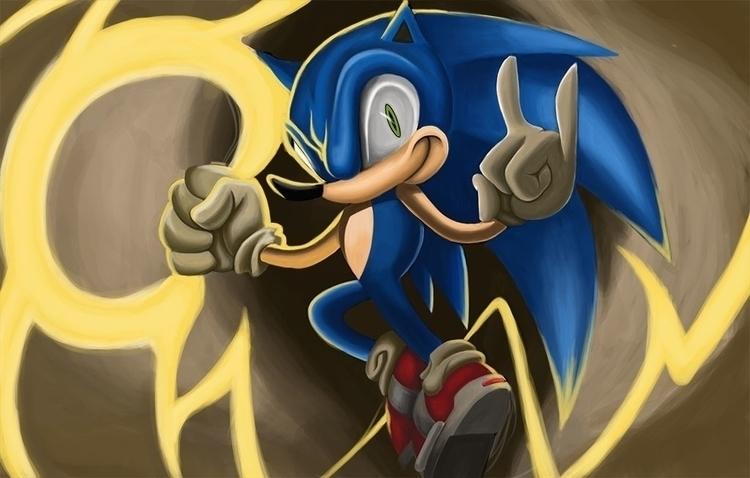 Sonic - digitalart, digitalillustration - andyanime90 | ello