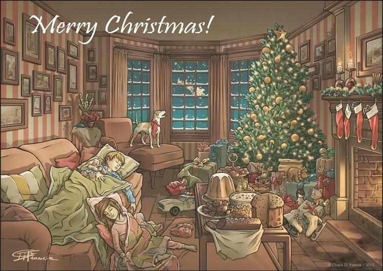 Merry Christmas - children, children'sillustration - chiaradifrancia | ello