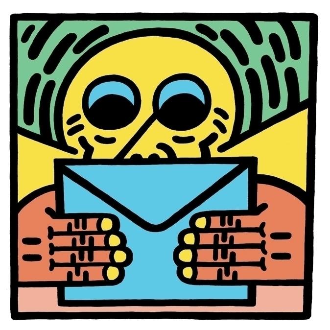 Envelope: Blue - illustration, digital - joshn-1546   ello