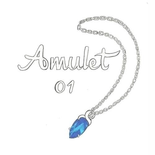 01 Amulet - illustration, drawlloween2016 - hotshots2000 | ello