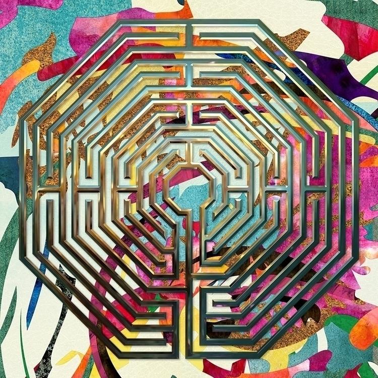Octagonal - Abstract Garden med - nancyaurandhumpf | ello