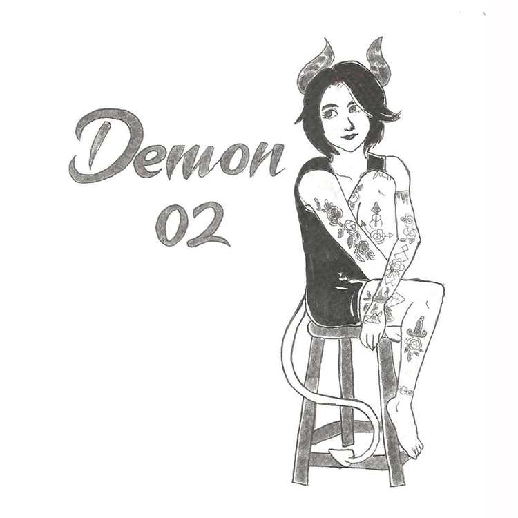02 Demon - illustration, drawlloween2016 - hotshots2000 | ello